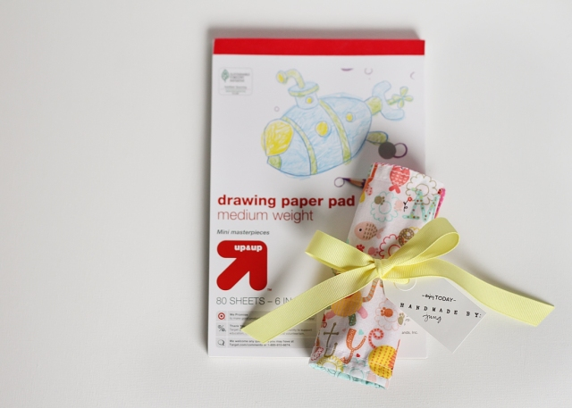 jungahsang crayon roll & drawing pad